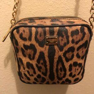 Dolce Gabbana Dauphine chain Crossbody leopard